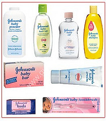 Baby powder, baby soap, baby oil, baby lotion